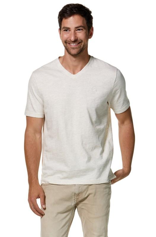 Mens Royal-Shirt V-Neck - Natural melange