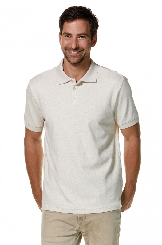 Polo Shirt Mens - Natural