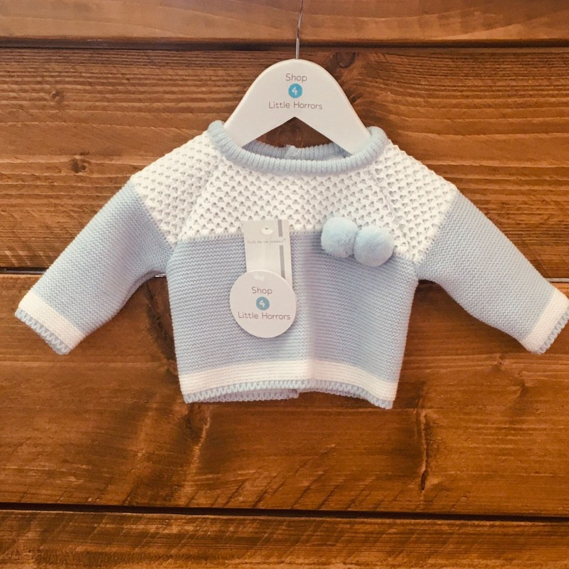 FRUIT DE MA PASSION BLUE/WHITE JUMPER BNWT NEW BABY UP TO 10LBS