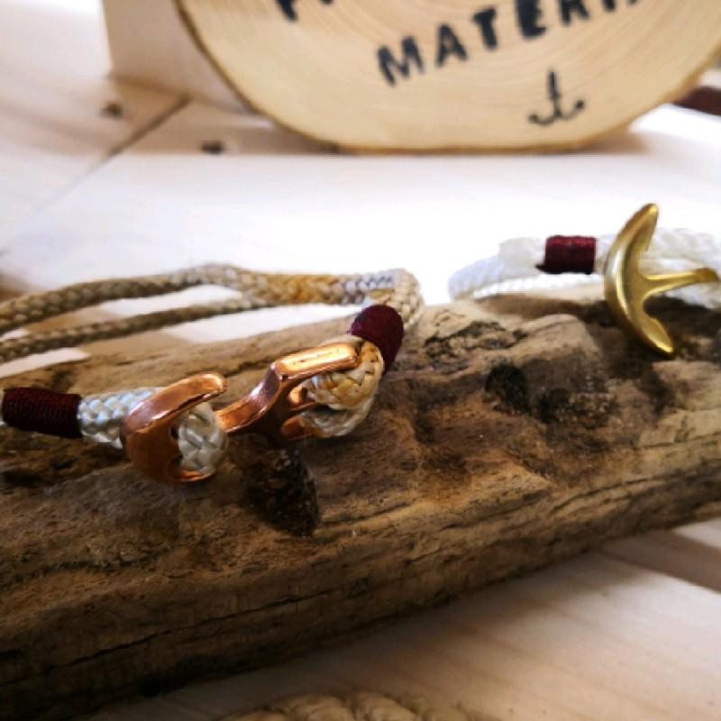 Fischereidesign - Armband mit Anker, getakelt