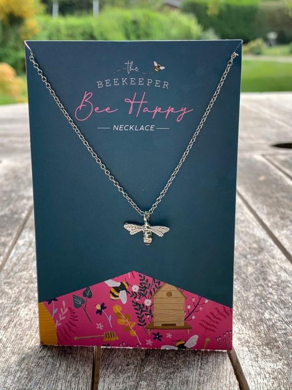 "CGB beekeeper ""bee happy "" necklace"