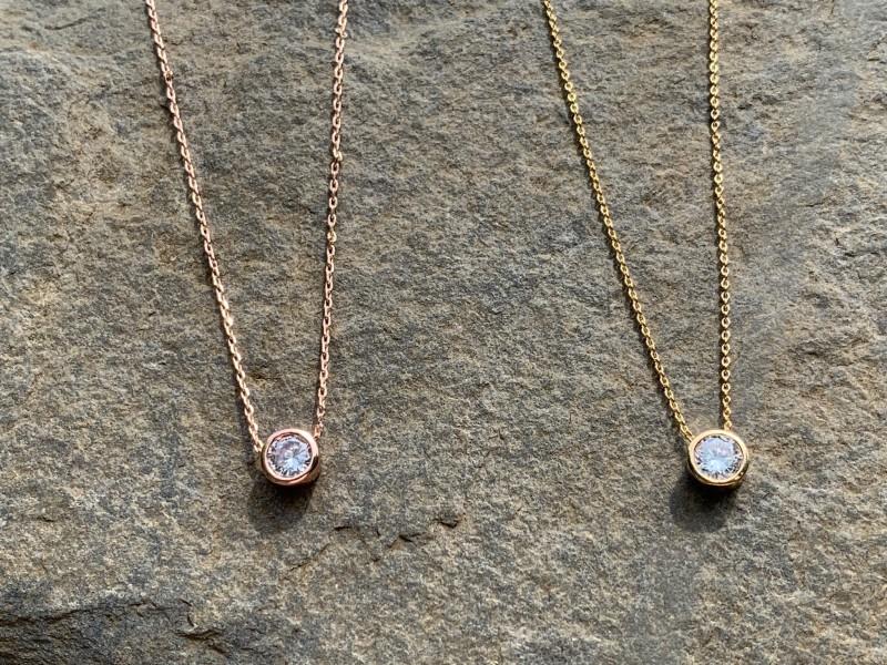 Shan stud diamonte necklace