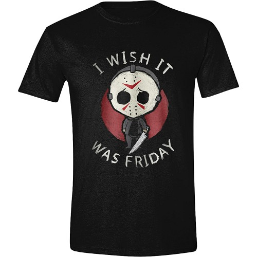 FRIDAY THE 13TH - I WISH IT WAS FRIDAY T-SHIRT - På lager uge 43