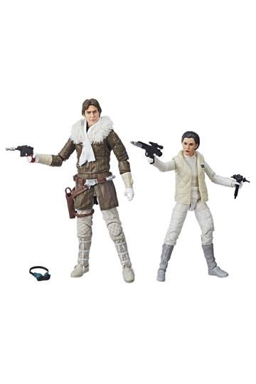 Star Wars Episode V Black Series Action Figures 2018 Leia & Han Hoth Convention Exclusive 15 cm