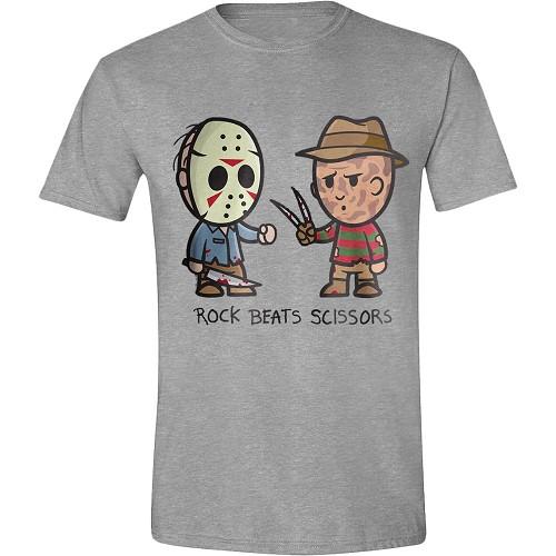 Freddy vs Jason - Rock Beats Scissors T-Shirt - På lager uge 43