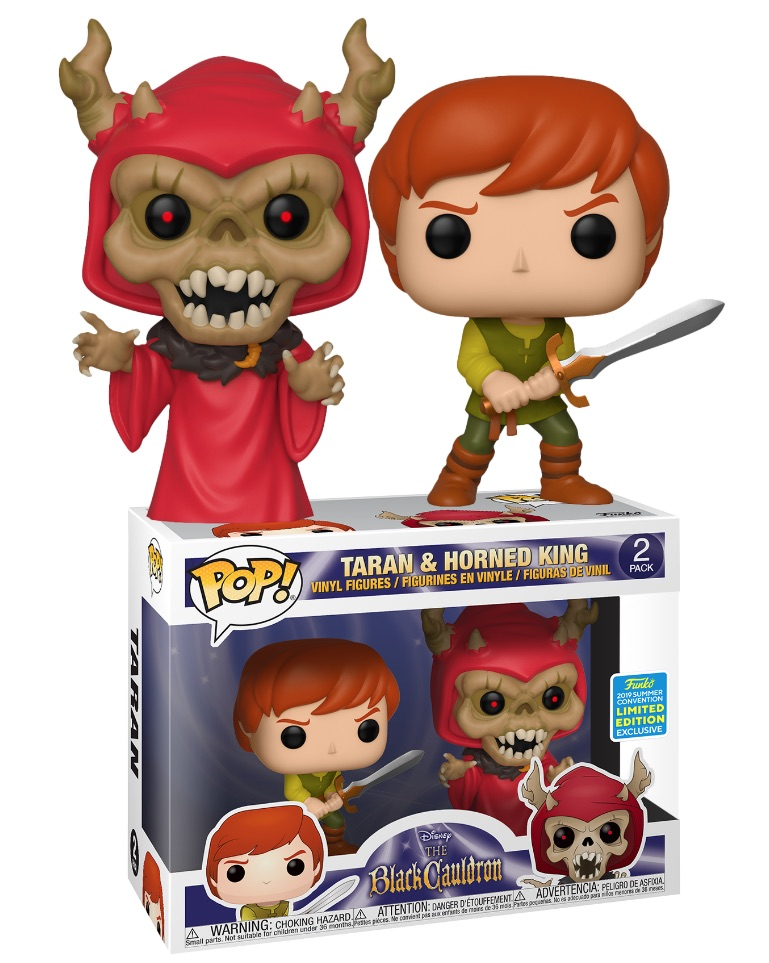 Disney The Black Cauldron 2-pack - Taran and Horned King - Summer Convention