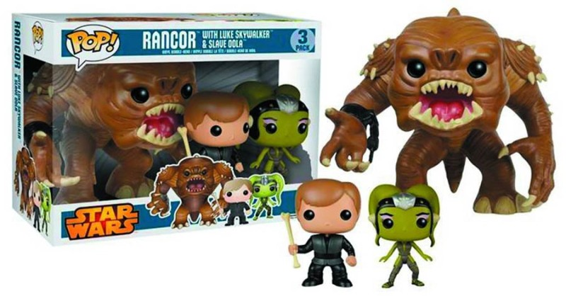 Star Wars 3-Pack - Rancor, Luke Skywalker & Slave Oola - Underground Toys Excl