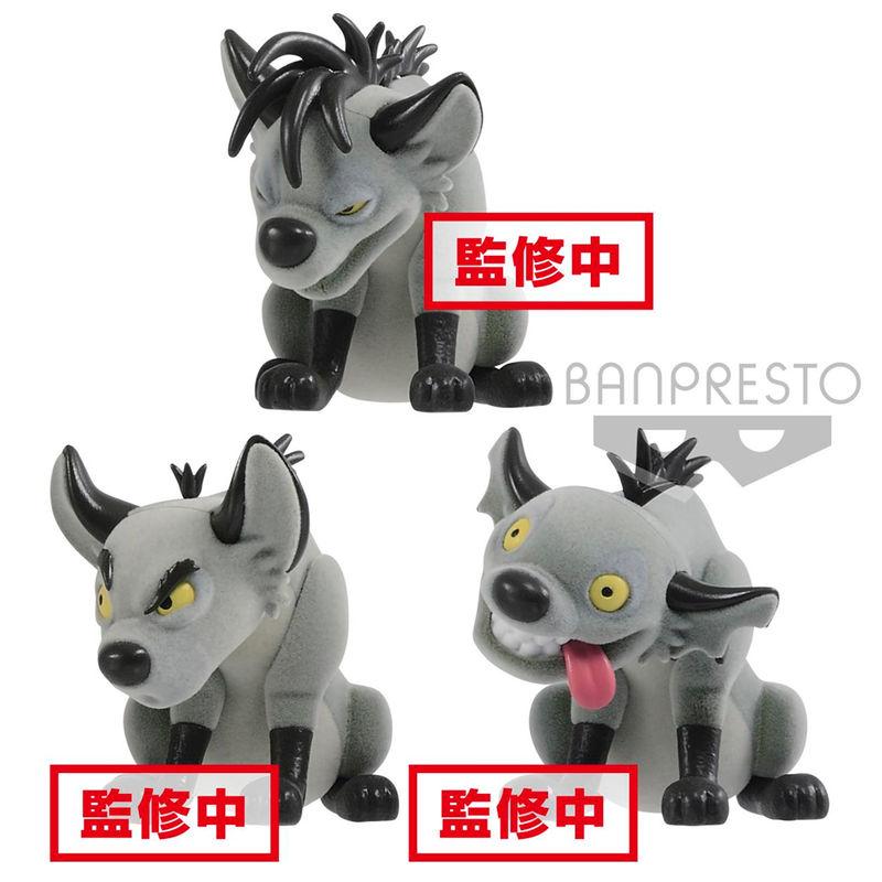 Disney The Lion King Banzai Shenzi & Ed Fluffy Q Posket set 7 cm