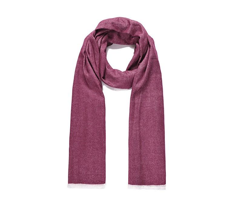 Langer Schal, gewebt - Weinrot