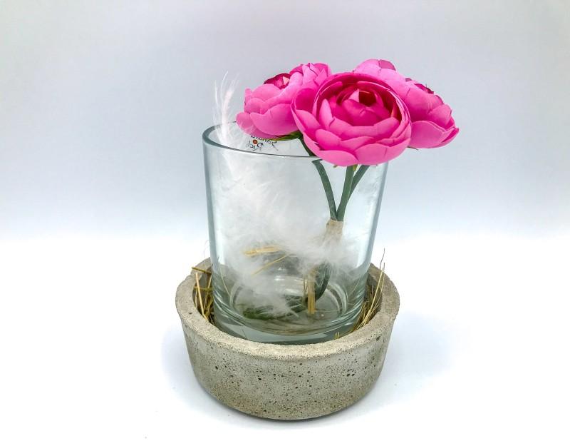 """Windlicht / Vase """"Flowerpower"""""""