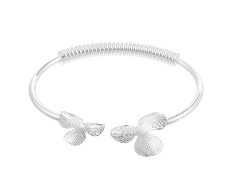 Blumen - Armreif silber