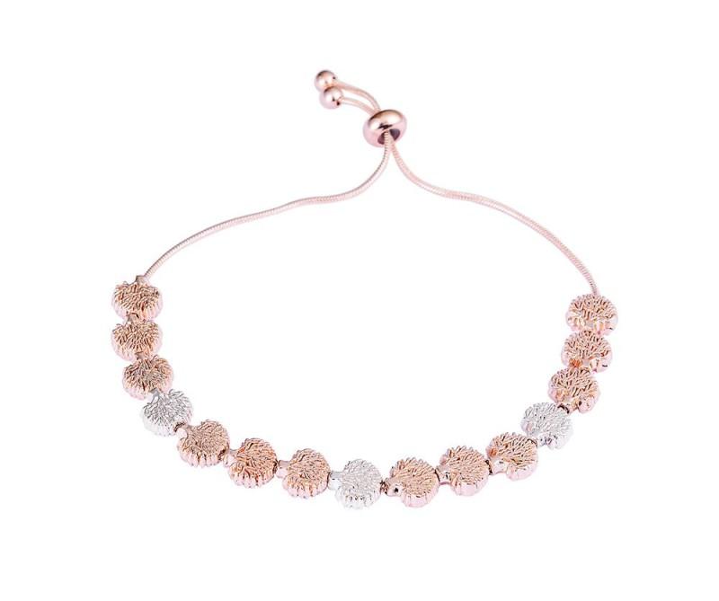 Baum-Armband - Silber/Rosé-Gold