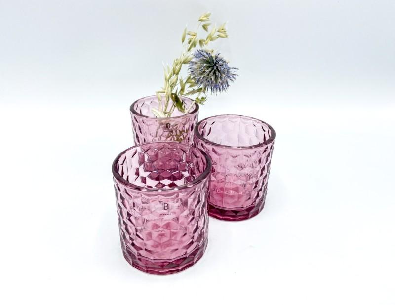 Teelichtglas Ib Laursen /rosa