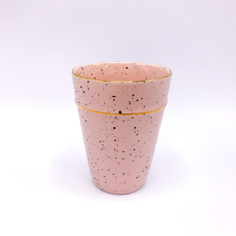 GREENGATE Cup pale pink w/gold rim