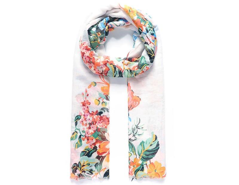"""Schal mit Blumen-Muster """"Blumenwiese"""""""