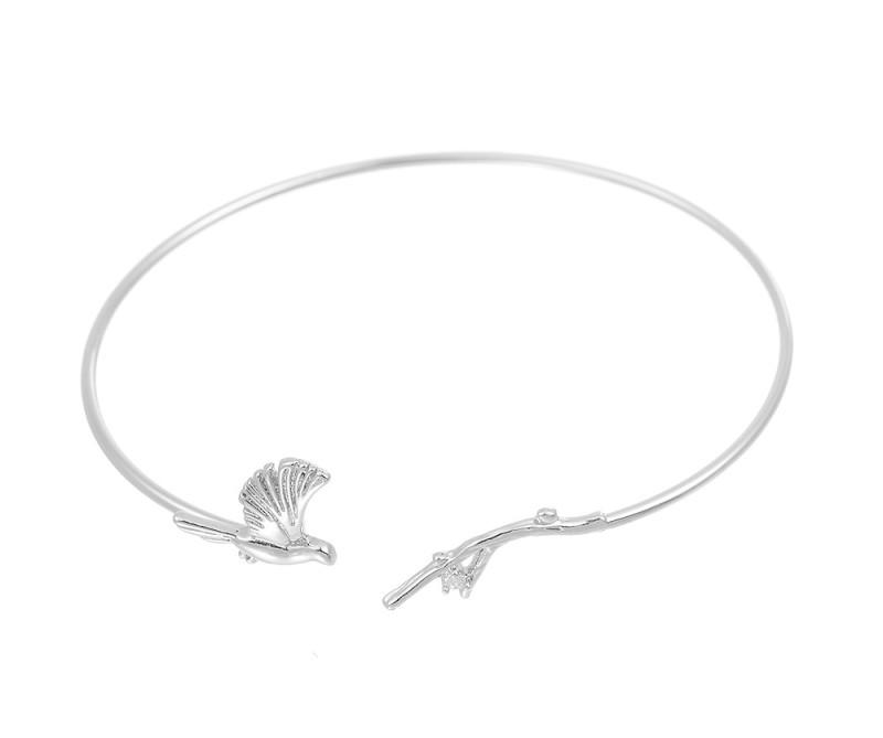 Vogel - Armreif silber