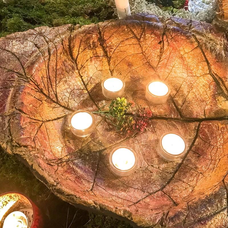"""Kerzenschale-Blatt """"Naturschönheit"""""""