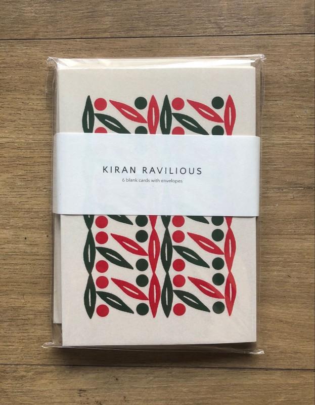 Kiran Ravilious Notecards pack of 6 designs