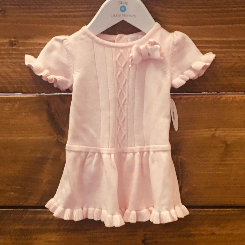 ZIP ZAP PINK KNITTTED DRESS 6M