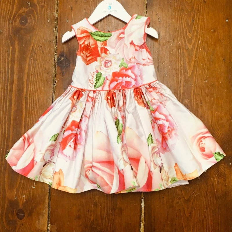 TED BAKER DRESS WITH LOVELY BOW ON THE BACK  2-3YR