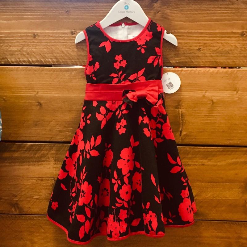 MINX RED/BLACK DRESS 4YRS