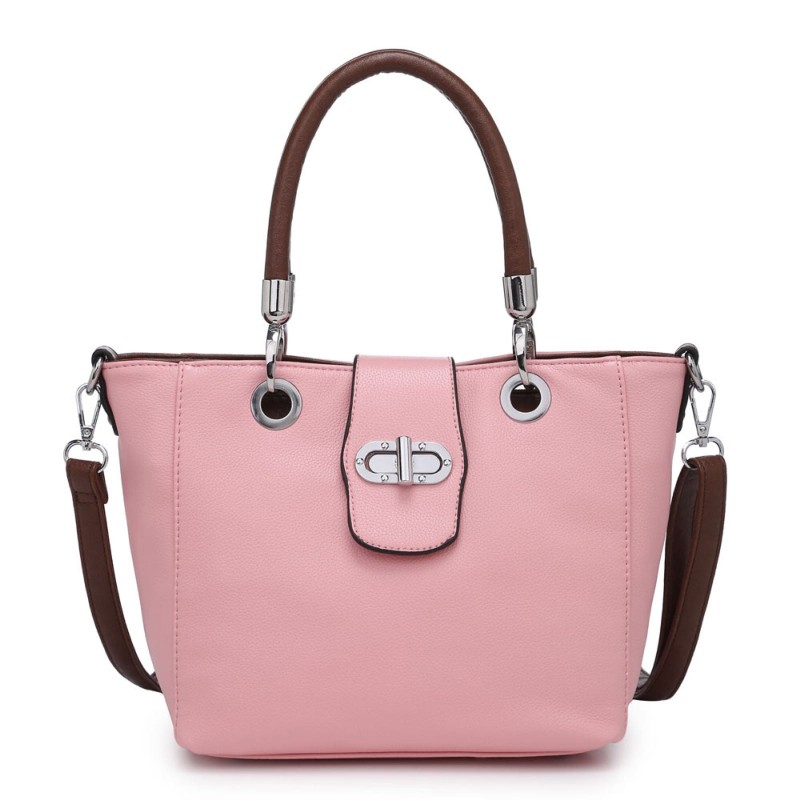 Multi Strap Flap-over Tote Bag – Pink