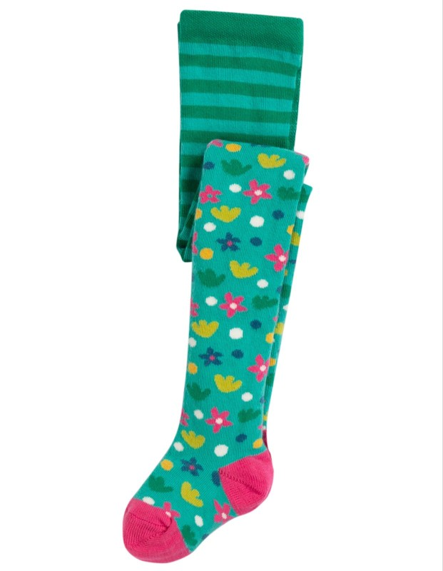 Frugi Little Norah Tights, Ditsy Floral