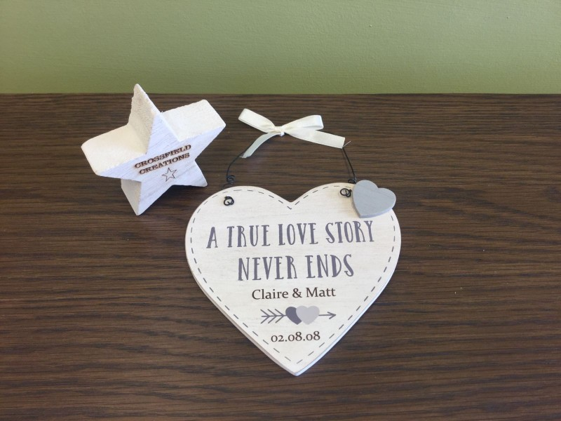 Wedding/anniversary plaque (personalised)