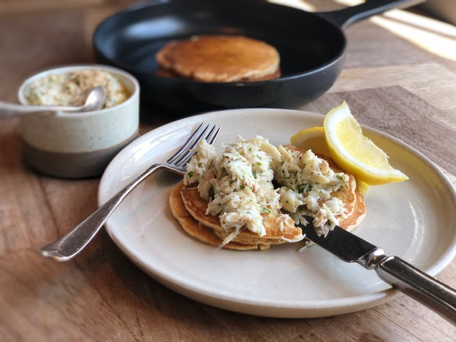 Sourdough Pancakes with Deviled Crab - FRIDAY 5TH JUNE