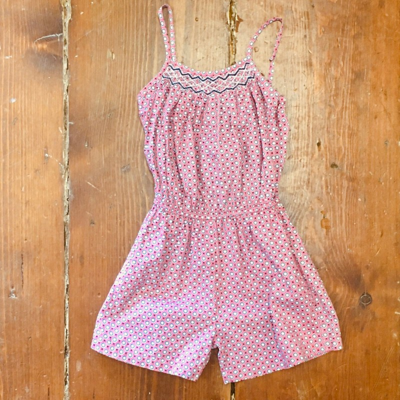 QUESTION EVERYTHING PINK/BLUE PLAYSUIT 5-6YRS