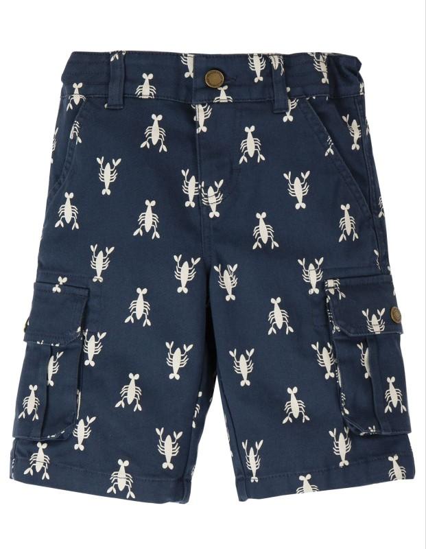 Frugi Explorer Shorts, Indigo Lobster