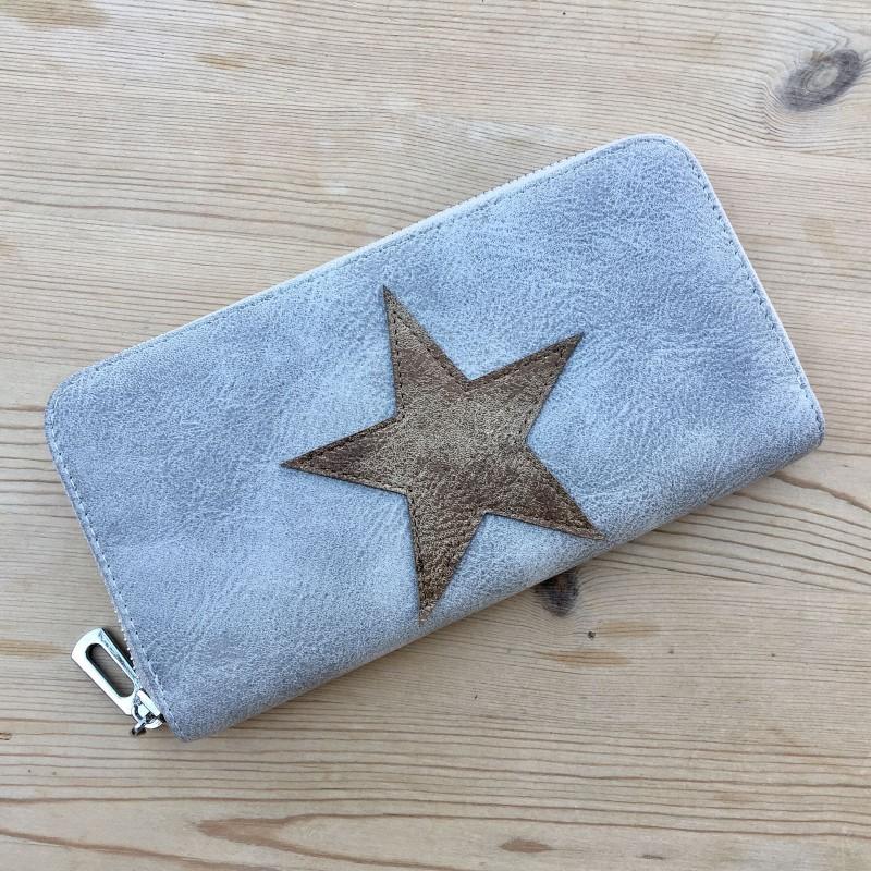 Star Purse (Large) - Tan/Grey