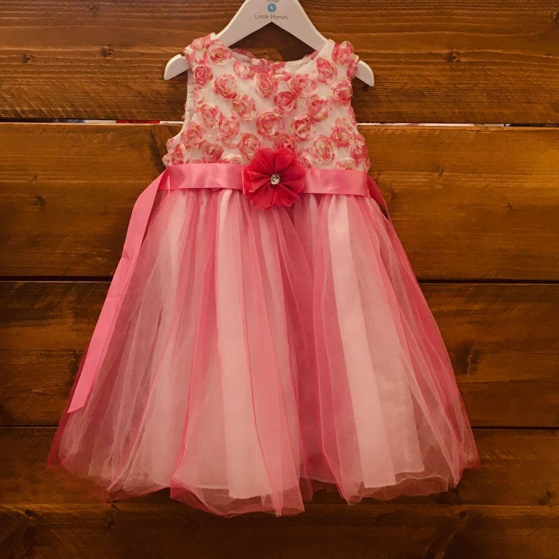 OLIVIA ROSE BRIDESMAID/PARTY DRESS WHITE/PINK DRESS 4YRS
