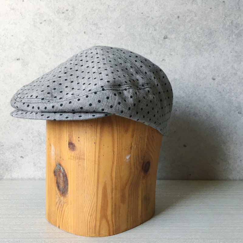 Flat Cap Grey dots