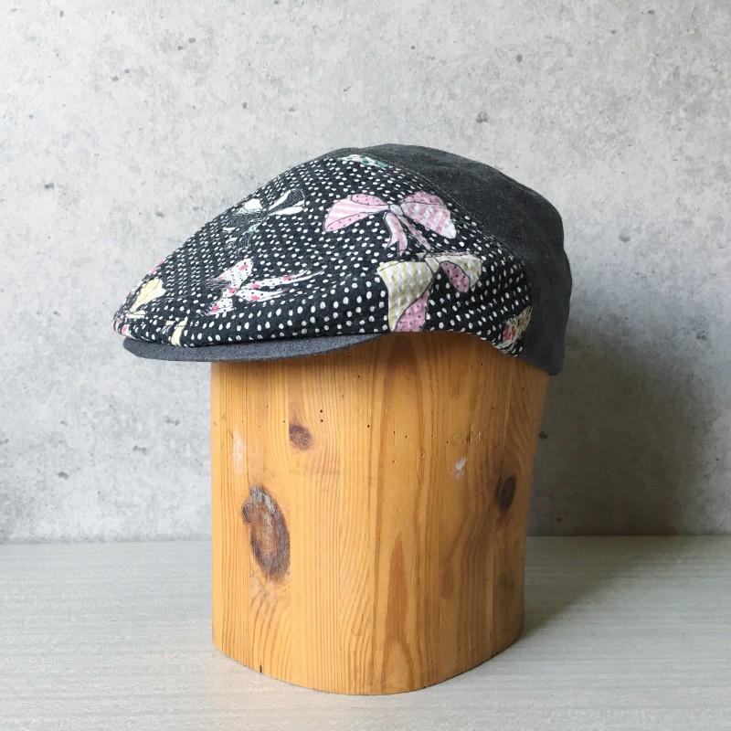 Flat Cap Pink bow