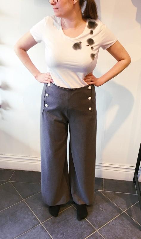 Sailor pants grey