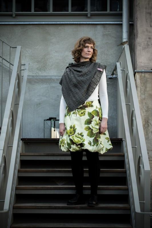 Puffy skirt Green Flower