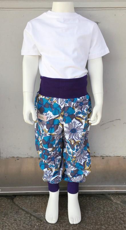Children´s pants blue flower