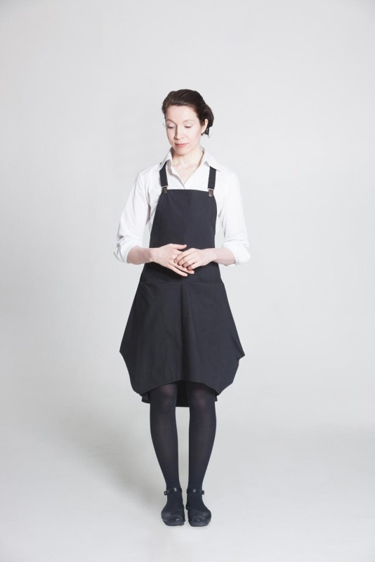Angular Apron dress grey