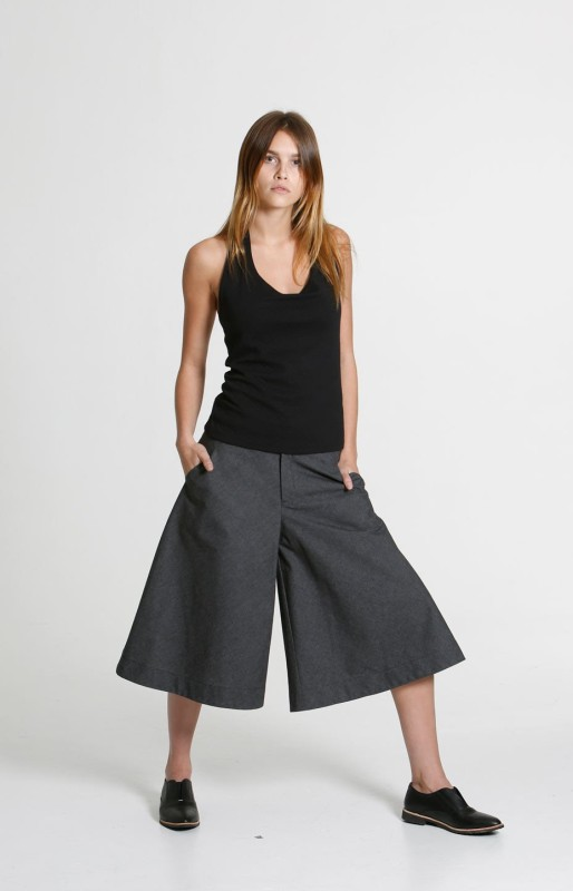 Gaucho pants grey