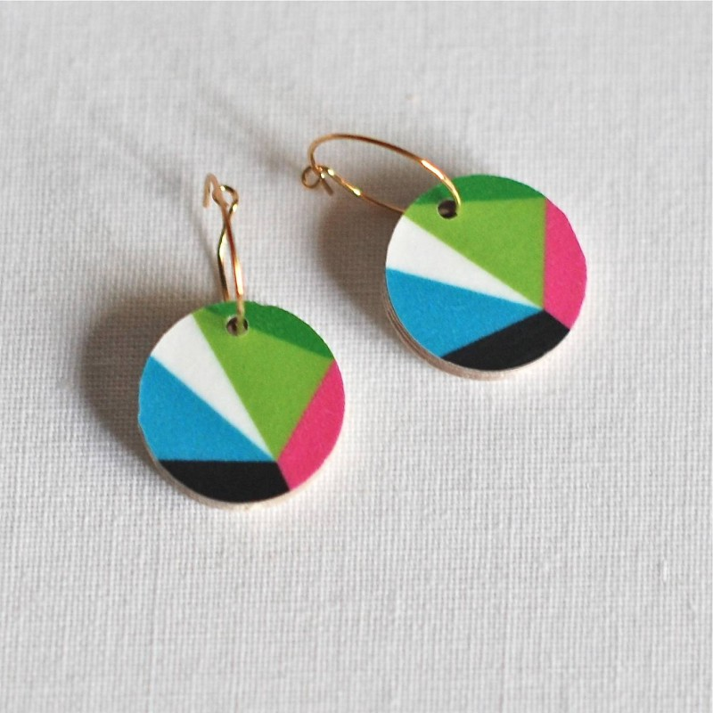 Geometric Dot Earrings