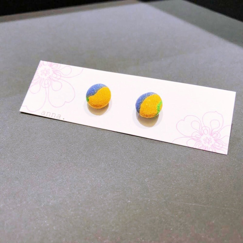 anna. earrings yellow