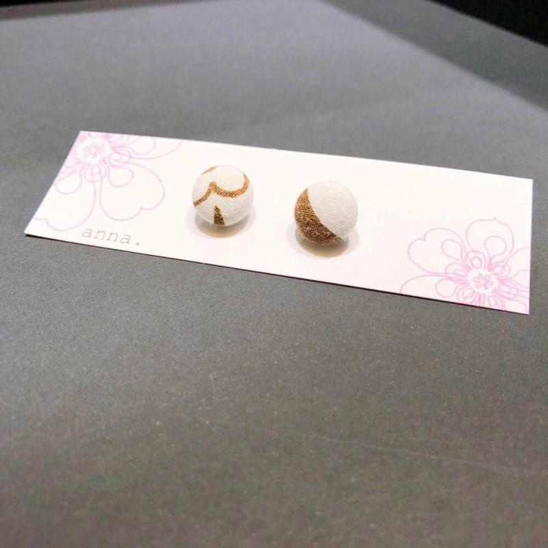 anna. earrings brown