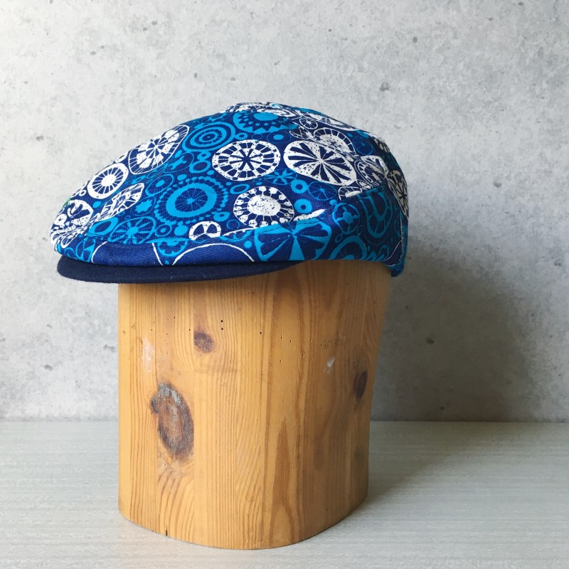 Flat Cap Blue wheel