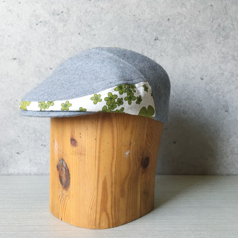 Flat Cap Grey flower