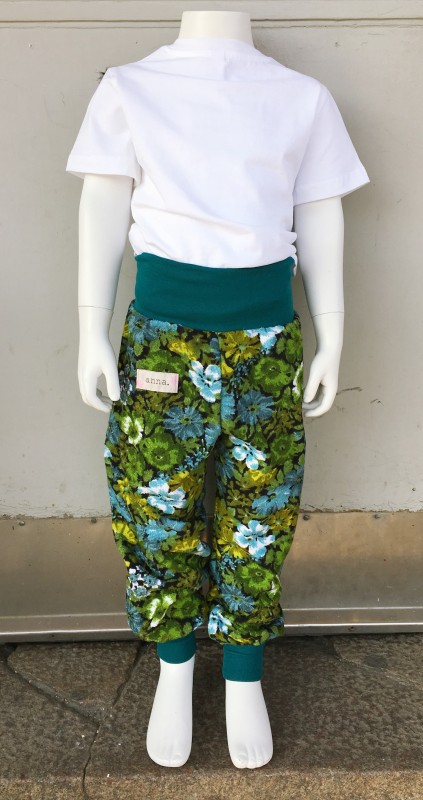 Children´s pants green flower