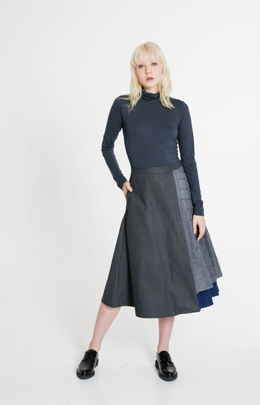 Shore skirt melange grey