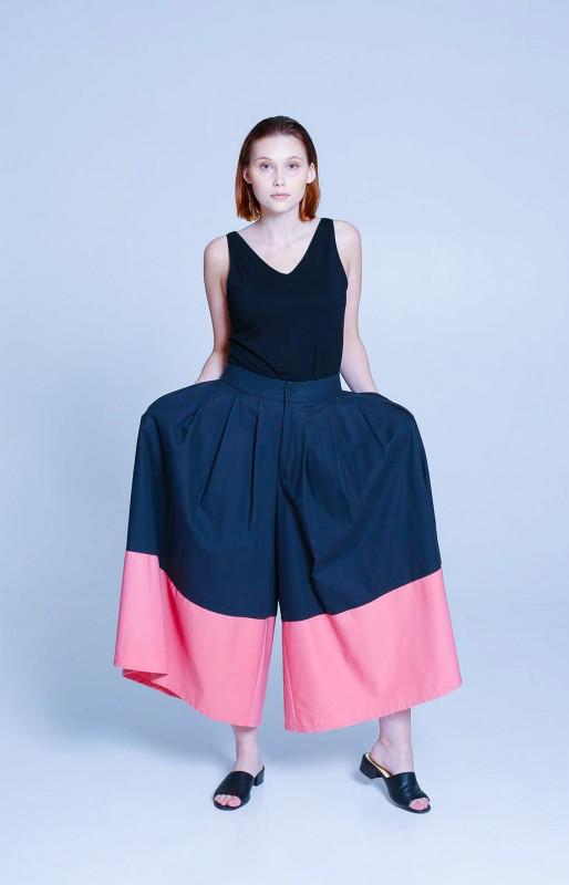 Panel Maxi pants pink