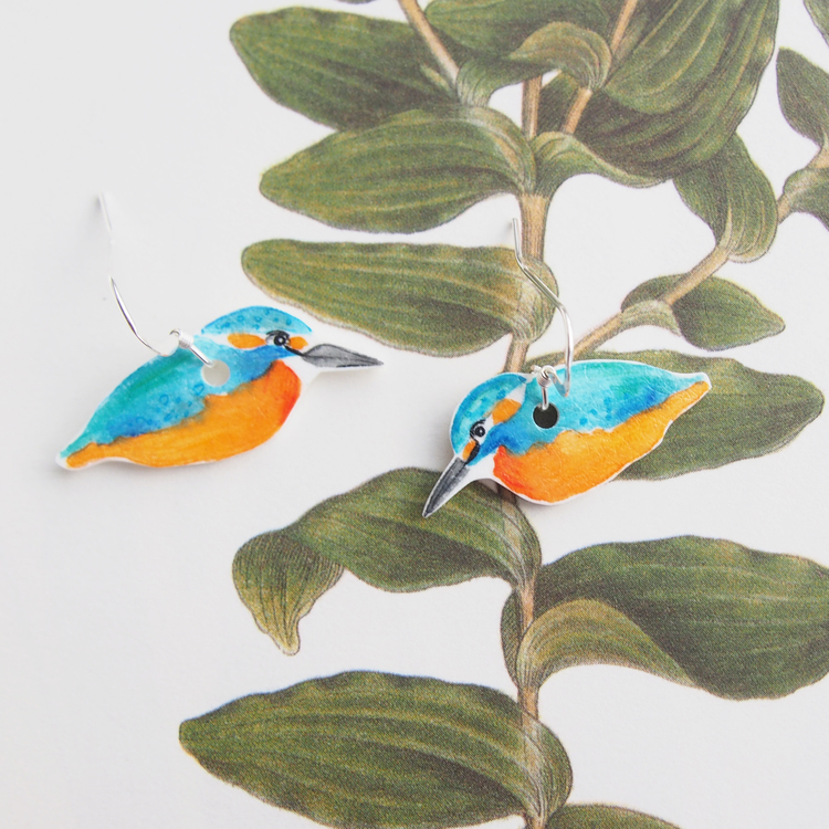 Kungsfiskare earrings