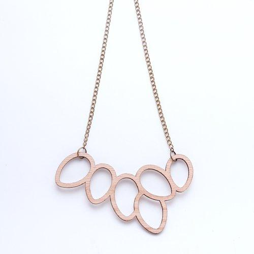 Laser wooden necklace